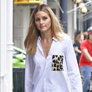 Zara Blouse with Leopard Print Pocket